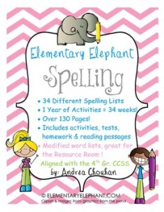 spelling 1 year bundle cover image pink