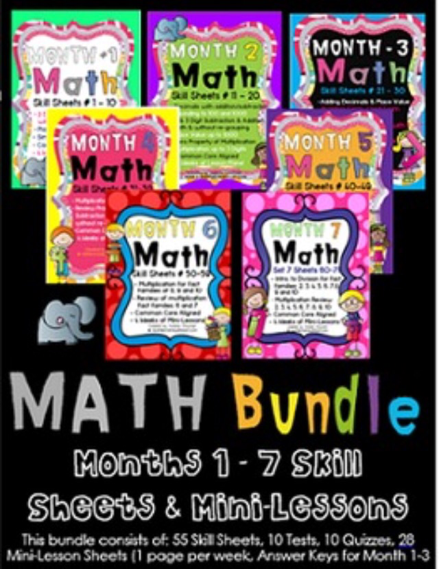 Math Skill Sheets -Modified and Marvelous! – elementary elephant